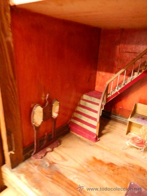 Casas de Muñecas: Casa de muñecas. Juguete antiguo. Siglo XIX / XX. Con accesorios - Foto 22 - 48619082