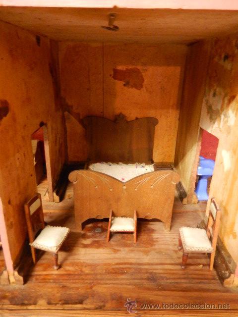 Casas de Muñecas: Casa de muñecas. Juguete antiguo. Siglo XIX / XX. Con accesorios - Foto 24 - 48619082