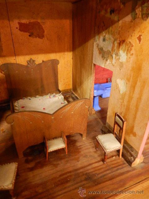 Casas de Muñecas: Casa de muñecas. Juguete antiguo. Siglo XIX / XX. Con accesorios - Foto 26 - 48619082