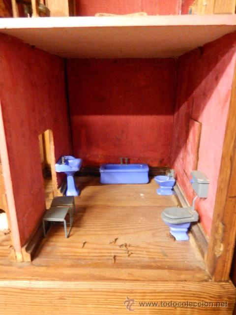Casas de Muñecas: Casa de muñecas. Juguete antiguo. Siglo XIX / XX. Con accesorios - Foto 27 - 48619082