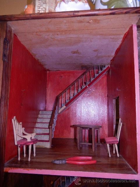 Casas de Muñecas: Casa de muñecas. Juguete antiguo. Siglo XIX / XX. Con accesorios - Foto 31 - 48619082