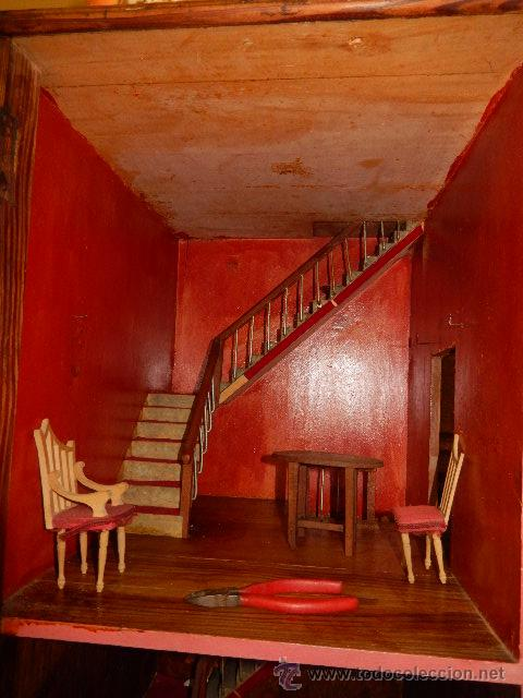 Casas de Muñecas: Casa de muñecas. Juguete antiguo. Siglo XIX / XX. Con accesorios - Foto 34 - 48619082