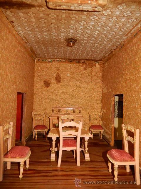 Casas de Muñecas: Casa de muñecas. Juguete antiguo. Siglo XIX / XX. Con accesorios - Foto 37 - 48619082