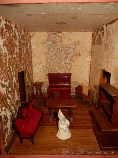 Casas de Muñecas: Casa de muñecas. Juguete antiguo. Siglo XIX / XX. Con accesorios - Foto 40 - 48619082