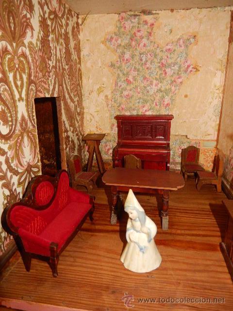 Casas de Muñecas: Casa de muñecas. Juguete antiguo. Siglo XIX / XX. Con accesorios - Foto 41 - 48619082