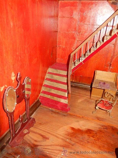 Casas de Muñecas: Casa de muñecas. Juguete antiguo. Siglo XIX / XX. Con accesorios - Foto 44 - 48619082
