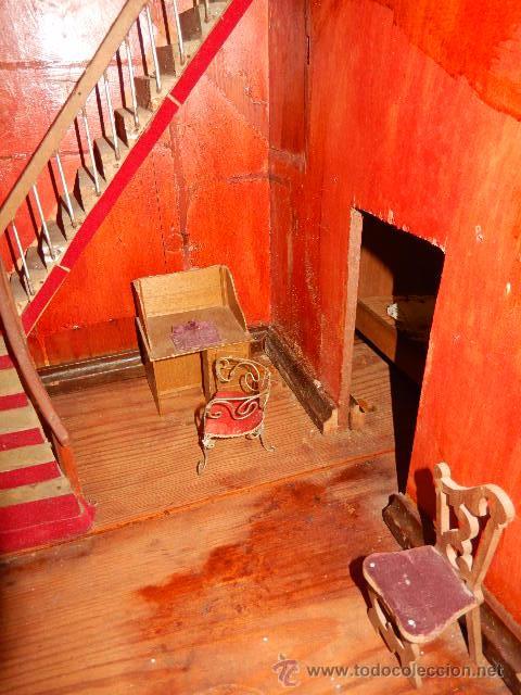 Casas de Muñecas: Casa de muñecas. Juguete antiguo. Siglo XIX / XX. Con accesorios - Foto 45 - 48619082