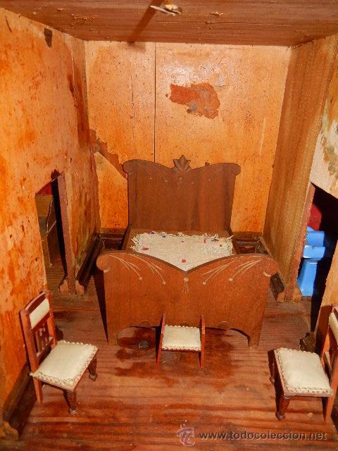 Casas de Muñecas: Casa de muñecas. Juguete antiguo. Siglo XIX / XX. Con accesorios - Foto 46 - 48619082