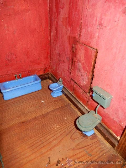 Casas de Muñecas: Casa de muñecas. Juguete antiguo. Siglo XIX / XX. Con accesorios - Foto 51 - 48619082