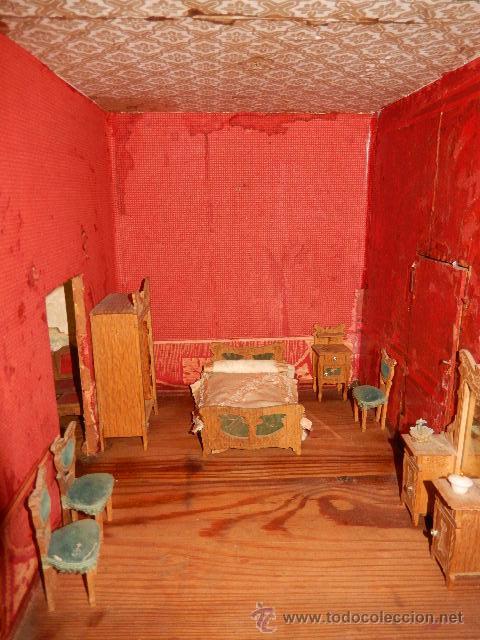 Casas de Muñecas: Casa de muñecas. Juguete antiguo. Siglo XIX / XX. Con accesorios - Foto 52 - 48619082