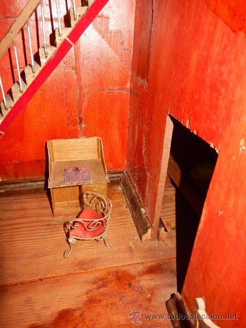Casas de Muñecas: Casa de muñecas. Juguete antiguo. Siglo XIX / XX. Con accesorios - Foto 63 - 48619082