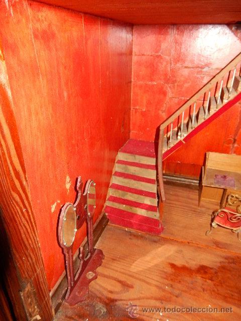 Casas de Muñecas: Casa de muñecas. Juguete antiguo. Siglo XIX / XX. Con accesorios - Foto 65 - 48619082