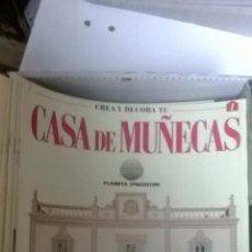 Casas de Muñecas: FASCICULOS CREA Y DECORA TU CASA DE MUÑECAS. Lote 210231470