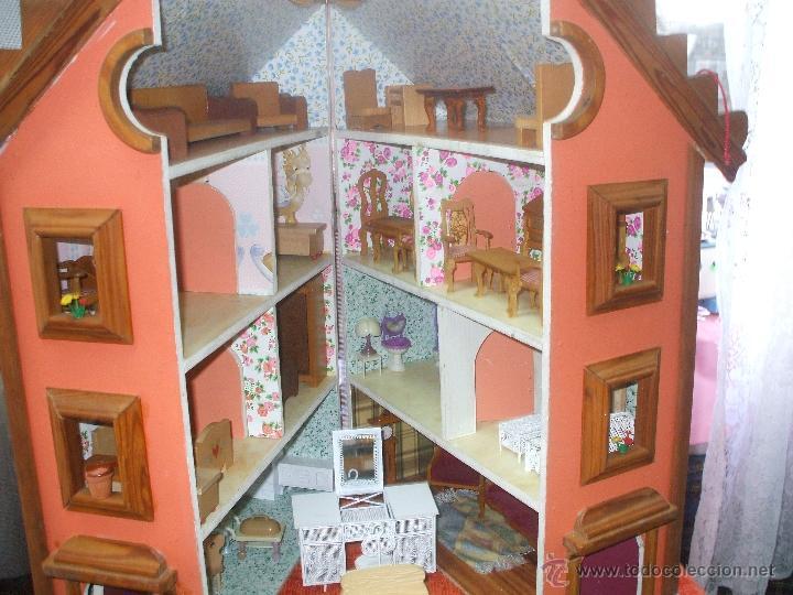 Casa de mu ecas entera de madera y completamen comprar casas de mu ecas mobiliarios y - Casas en miniatura de madera ...