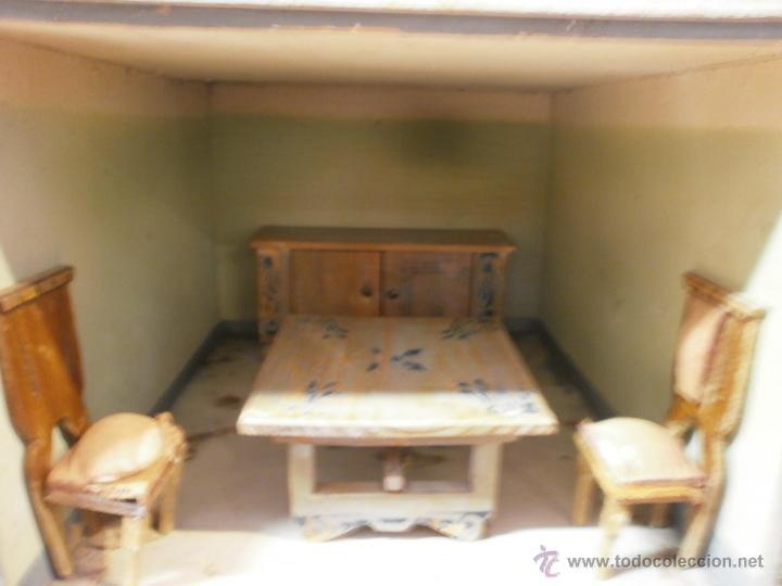 Casas de Muñecas: Antigua casa de muñecas-de madera-años 20- estilo colonial con torreón-contiene algunos muebles. - Foto 9 - 49287001