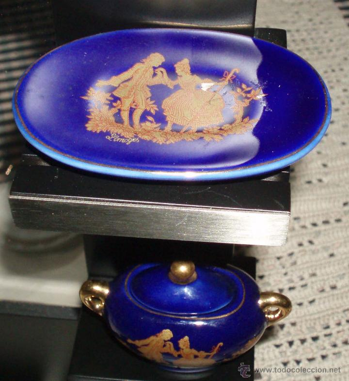 Casas de Muñecas: sopera pequeña porcelana con plato - Foto 2 - 49345683