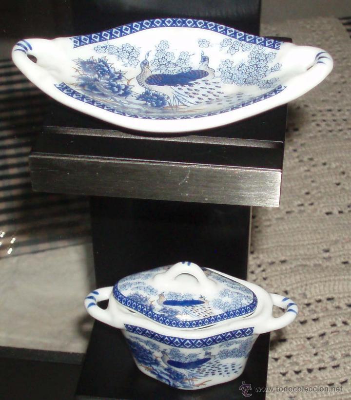 Casas de Muñecas: sopera pequeña con su plato de porcelana italiana para casa de muñecas - Foto 2 - 49361347