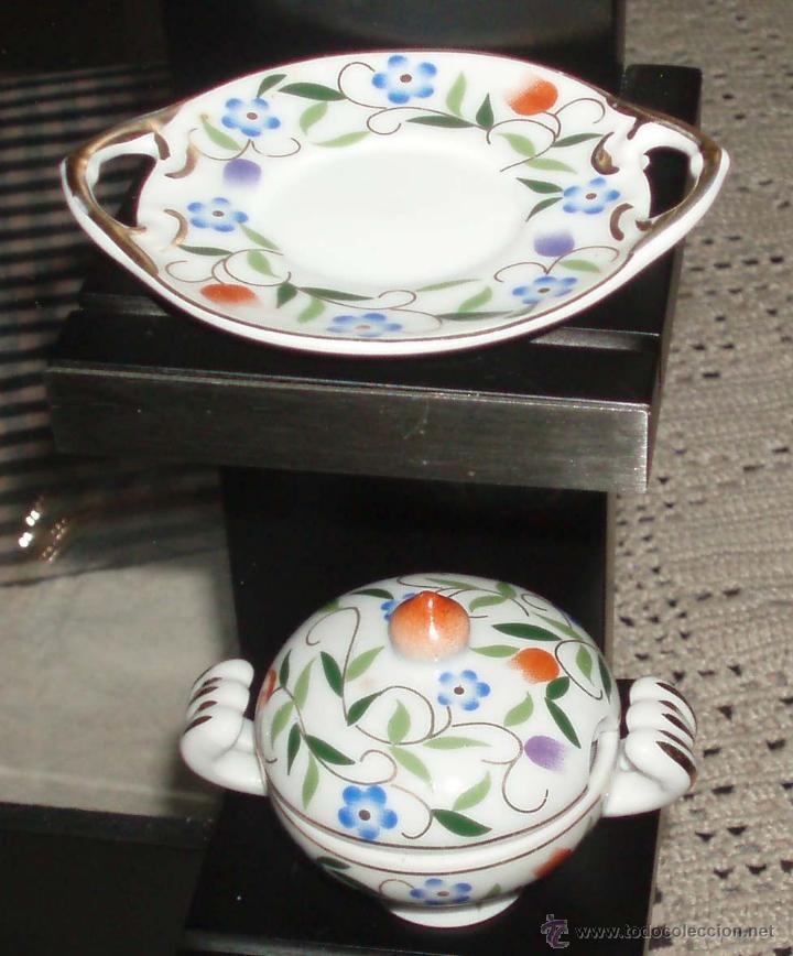 Casas de Muñecas: sopera y plato para casa de muñecas porcelana italiana - Foto 2 - 49370918