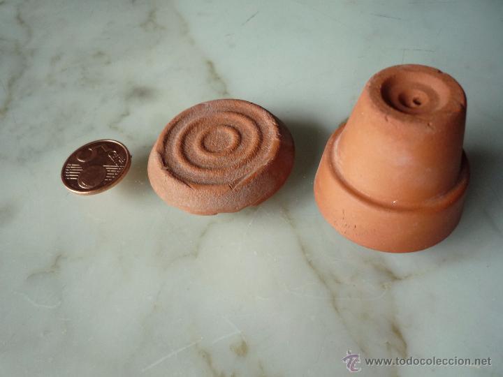 muy antiguo juguete juego maceta y plato miniatura de barro para casa de