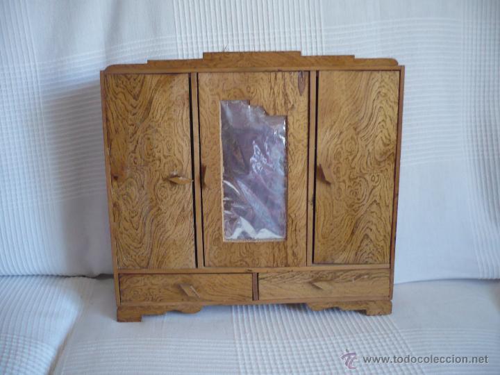 Armario Organizador Plastico ~ armario ropero antiguo de madera para ropa de m Comprar Casas de Muñecas, mobiliarios y