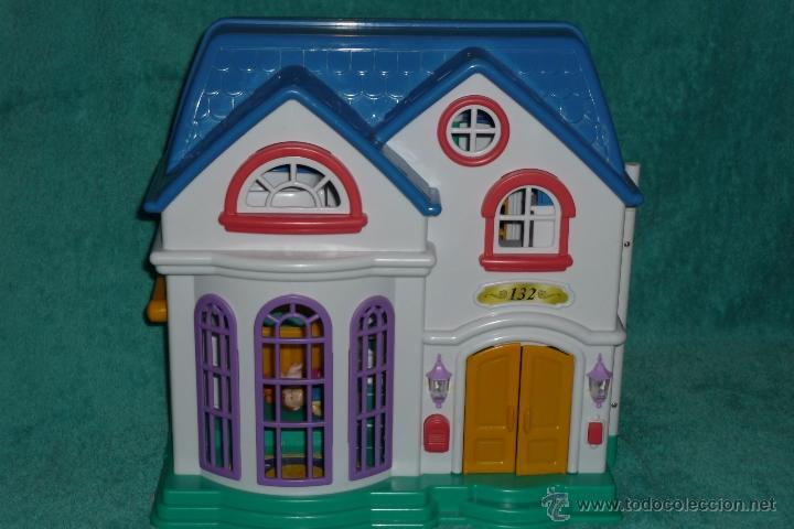 casa de muñecas de plastico 2 pisos. 18 piezas - Comprar Casas de ...
