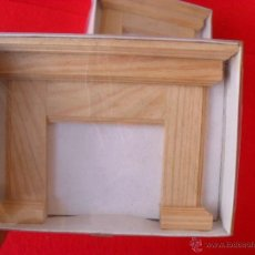 Doll houses - frontal chimenea en madera para casa muñecas,nuevo - 50869139