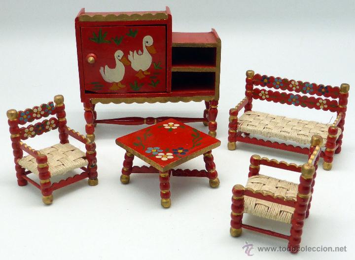 Conjunto sal n muebles casa mu ecas casa pimbo comprar casas de mu ecas mobiliarios y - Conjunto muebles salon ...