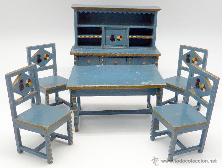 conjunto comedor muebles casa muñecas casa pimb - Kaufen ...