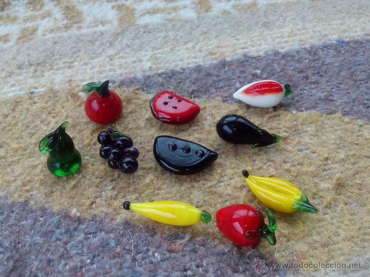 Lote de 10 frutas de cristal de murano miniat comprar for Frutas de cristal