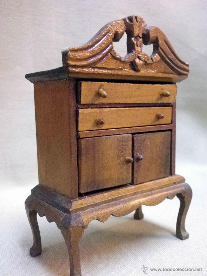 complemento casa de muecas mueble comedor alacena de madera s juguetes