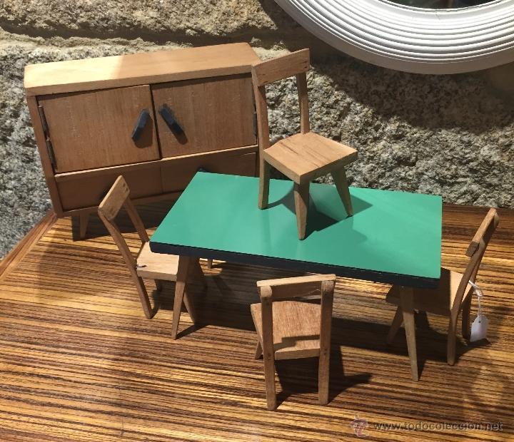 MUEBLES A ESCALA EN MADERA (Juguetes - Casas de Muñecas, mobiliarios y complementos)