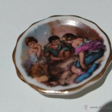 Casas de Muñecas: PLATO PEQUEÑO DE CASA DE MUÑECA. ESCENA INFANTIL. Lote 53764744