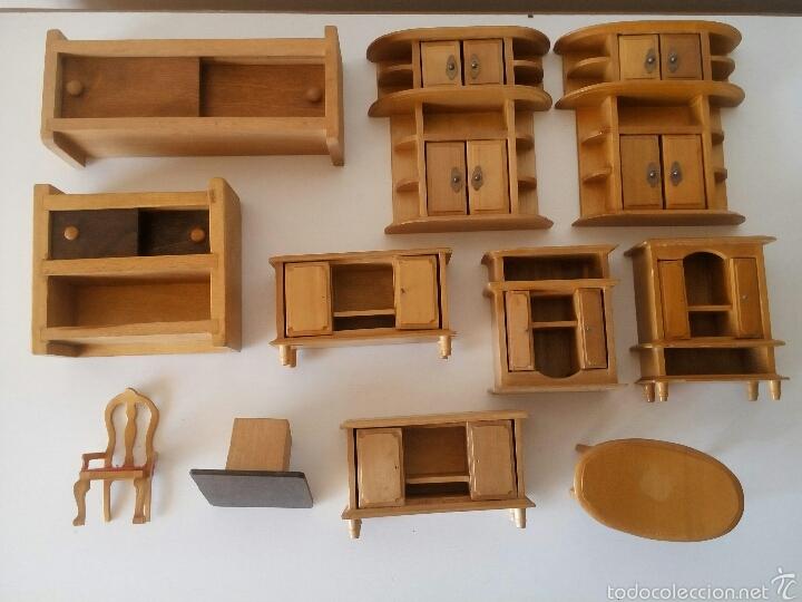 lote muebles miniatura de mueble con pata rota juguetes