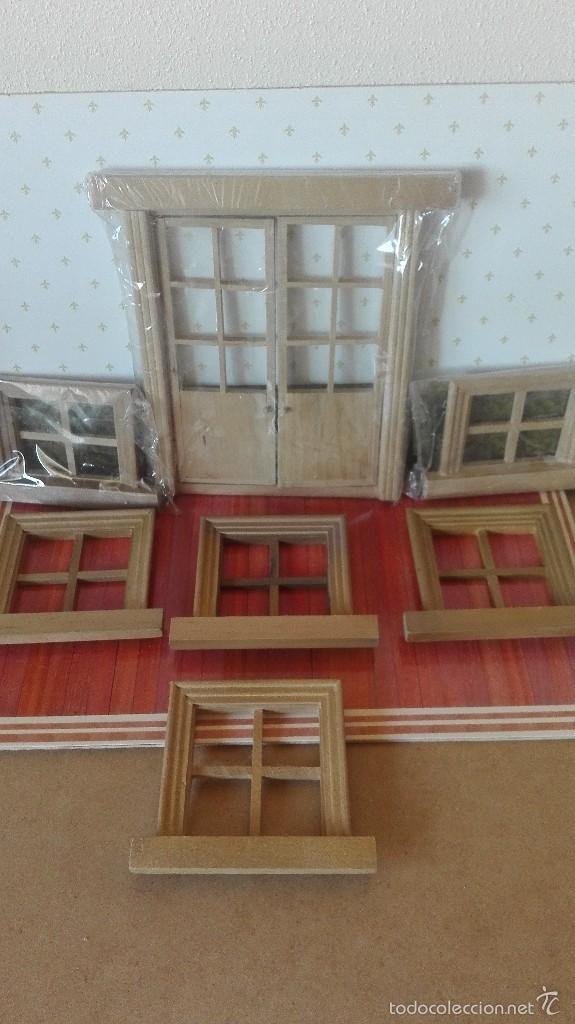 lote de 6 ventanas y puerta para casa de muñeca - Comprar Casas de ...