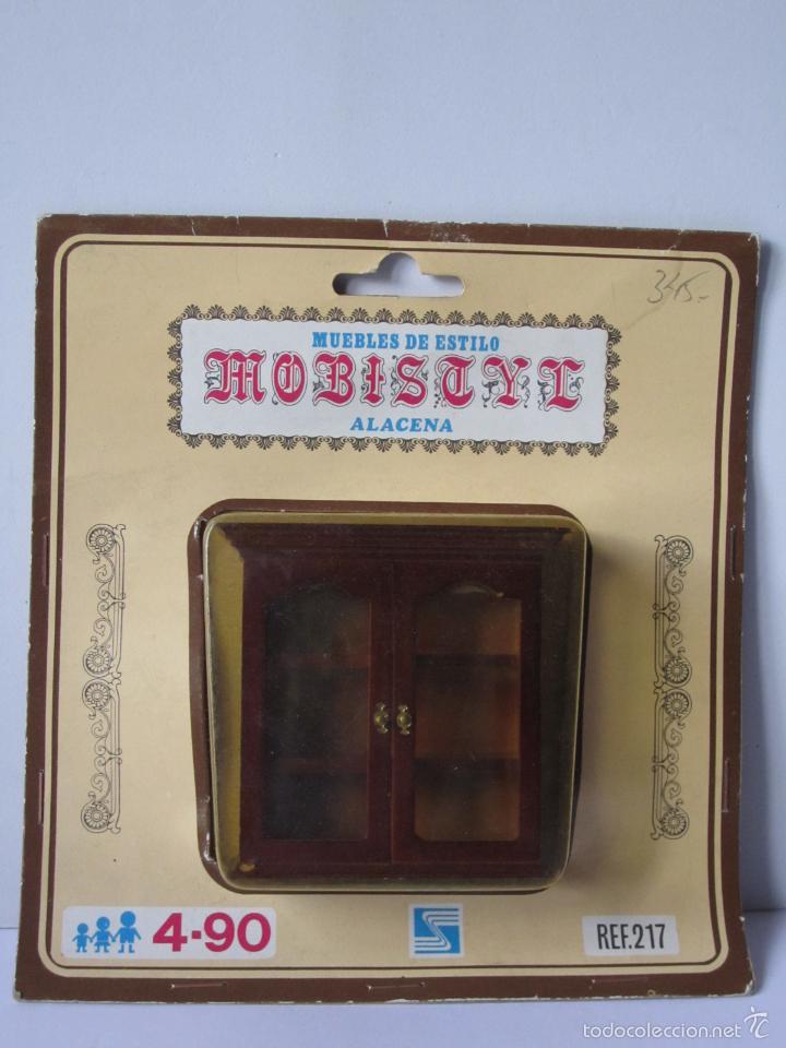 ALACENA PLÁSTICO MUEBLE CASA MUÑECAS REF. 217 MARCA MOBISTYL ESTILO CLÁSICO. . (Juguetes - Casas de Muñecas, mobiliarios y complementos)