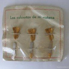 Casas de Muñecas: LOS CUBIERTOS DE MI MUÑECA, MINIATURA EN MADERA DE BOJ AÑOS 40 - 50. Lote 57921849