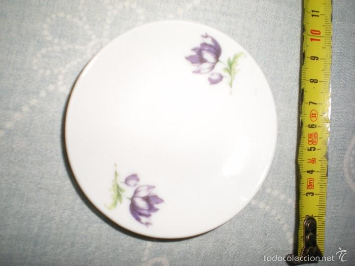 Casas de Muñecas: precioso juego en miniatura de jarra y palangana porcelana fina ciste oviedo con motivos florales - Foto 7 - 58550865