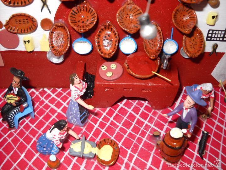 Casas de Muñecas: Antigua y preciosa escena con figuritas de barro.Andalucía o mexicana. - Foto 4 - 58652349