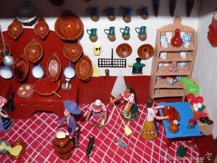 Casas de Muñecas: Antigua y preciosa escena con figuritas de barro.Andalucía o mexicana. - Foto 6 - 58652349
