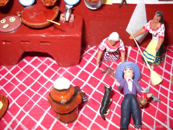 Casas de Muñecas: Antigua y preciosa escena con figuritas de barro.Andalucía o mexicana. - Foto 9 - 58652349