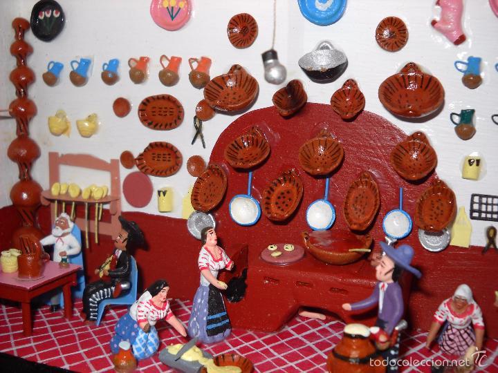 Casas de Muñecas: Antigua y preciosa escena con figuritas de barro.Andalucía o mexicana. - Foto 10 - 58652349