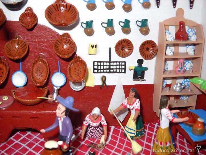 Casas de Muñecas: Antigua y preciosa escena con figuritas de barro.Andalucía o mexicana. - Foto 11 - 58652349