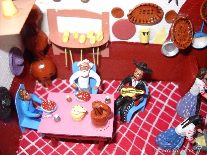 Casas de Muñecas: Antigua y preciosa escena con figuritas de barro.Andalucía o mexicana. - Foto 12 - 58652349