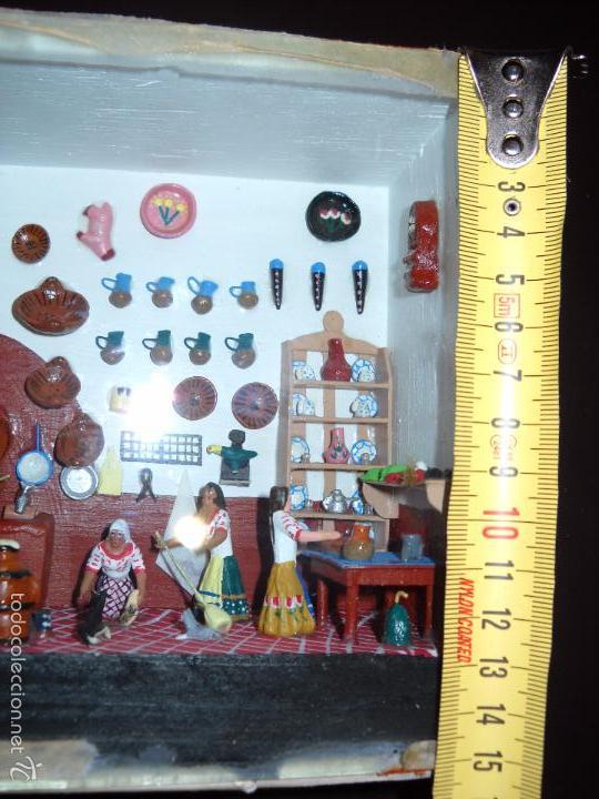 Casas de Muñecas: Antigua y preciosa escena con figuritas de barro.Andalucía o mexicana. - Foto 16 - 58652349