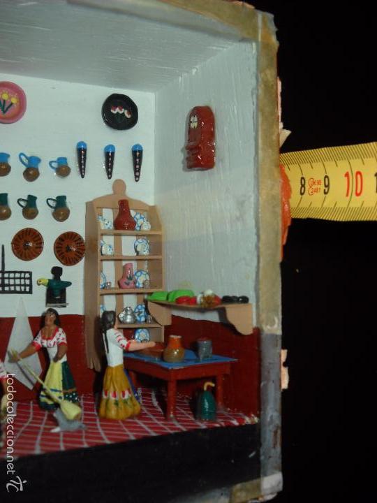 Casas de Muñecas: Antigua y preciosa escena con figuritas de barro.Andalucía o mexicana. - Foto 18 - 58652349