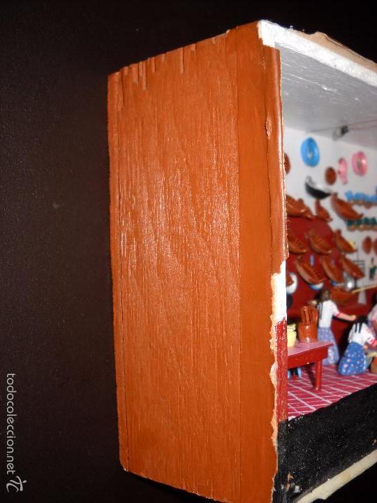 Casas de Muñecas: Antigua y preciosa escena con figuritas de barro.Andalucía o mexicana. - Foto 21 - 58652349