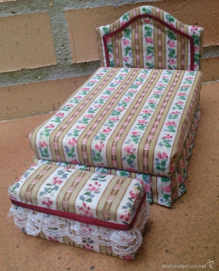 muebles casa de muñecas, cama tapizada con banq - Comprar Casas de ...