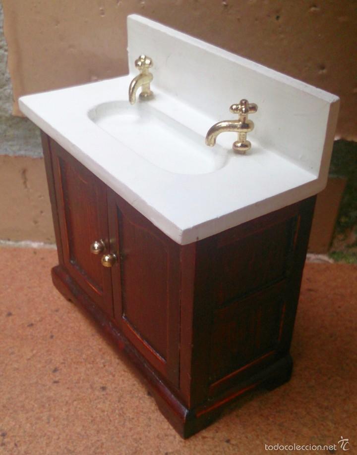 Muebles casa de mu ecas lavamanos ba o madera comprar for De casa muebles