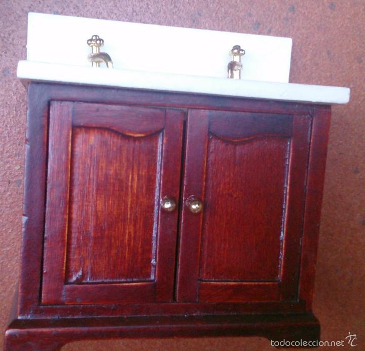 Casas de Muñecas: Muebles casa de muñecas, lavamanos baño madera - Foto 3 - 79630207