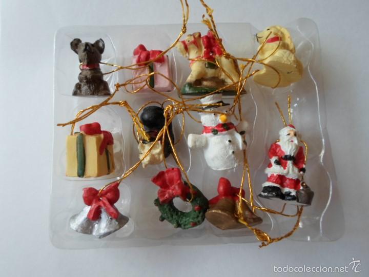 Cajita con 11 mini adornos en ceramica para arb comprar for Adornos navidad online